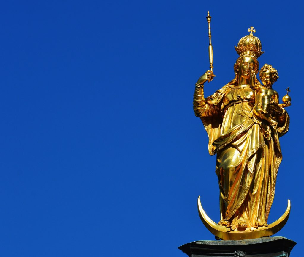 Golden Mary Statue